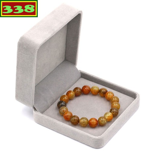 Vòng tay chuỗi hạt đá vân rồng 10 ly 18 hạt kèm hộp nhung