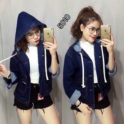 Áo Khoác Jeans Nữ Có Nón Thời Trang OHS5009-10