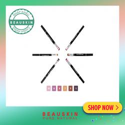 Chì vặn kẻ môi 2 đầu xinh xắn Beauskin Crystal Auto Lip Liner #05 Cam đất