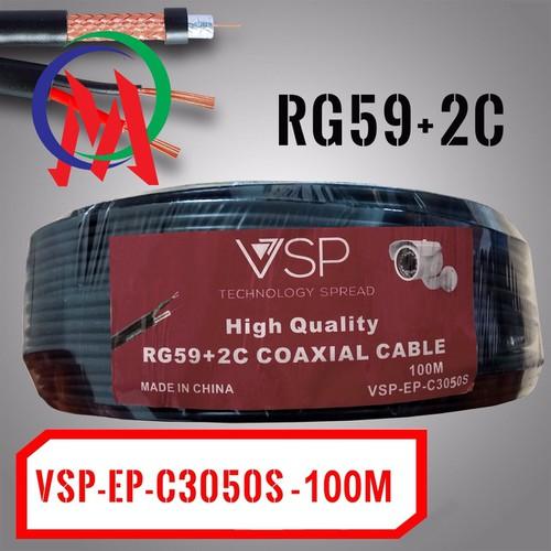Cáp Camera Kèm Nguồn 220V VSP-C3050S RG59+2C 100m