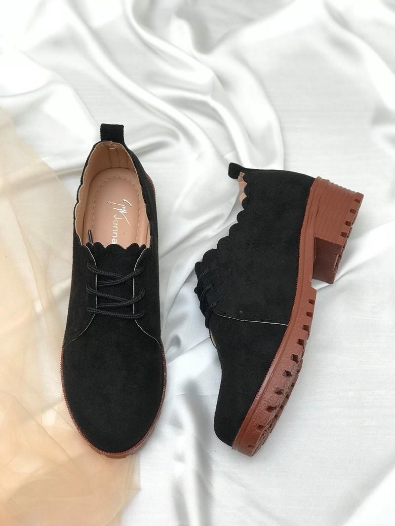 Giày oxford cột dây gợn sóng 02 8