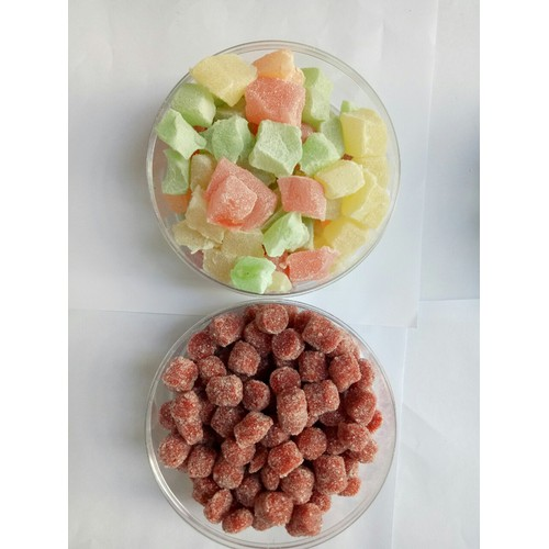 Combo Hộp 250g kẹo dẻo và hộp 250g kẹo dâu tây Đà LẠt