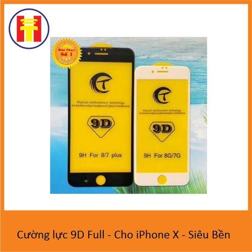 Cường lực 9D Full - Cho iPhone X  - Siêu Bền
