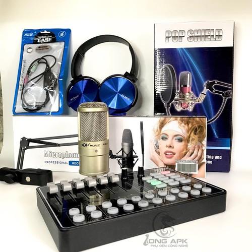 COMBO SOUNDCARD H9 BLUETOOTH - MICRO AQTA 220 - CHÂN KẸP - LƯỚI LỌC