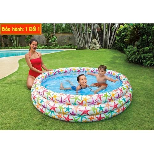 Bể bơi 3 tầng có hình sao biển giúp bé thích thú khi chơi 1m68
