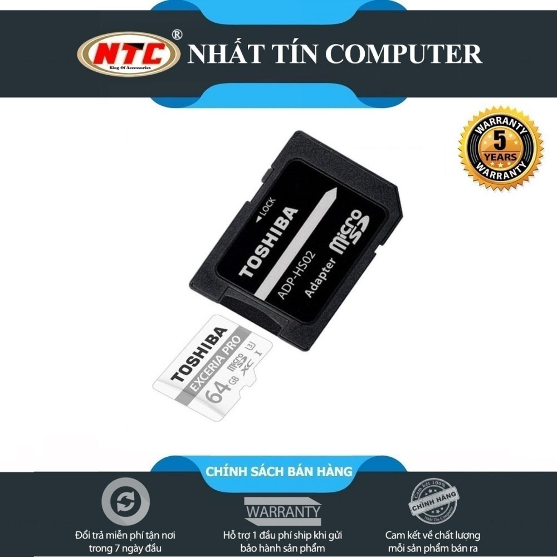 Thẻ nhớ MicroSDXC Toshiba Exceria Pro M401 64GB UHS-I U3 4K 95MB.s [Bạc] - Toshiba Exceria 5