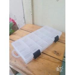 hộp nhựa 16 ô tháo lắp được 23 x 11 x 3,5cm