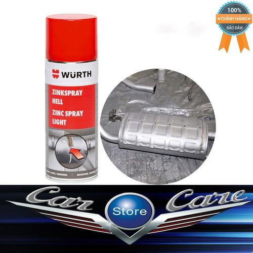 Chai xịt sơn mạ kẽm chống rỉ chịu nhiệt bảo vệ Wurth Zinc Spray 400ml
