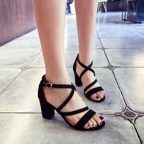 Giày sandal cao gót đế vuông 7cm - 6989915 , 13732065 , 15_13732065 , 139000 , Giay-sandal-cao-got-de-vuong-7cm-15_13732065 , sendo.vn , Giày sandal cao gót đế vuông 7cm