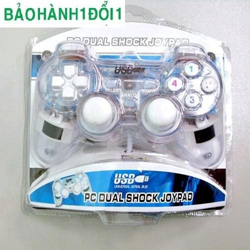 Tay cầm Game đơn cho PC các nút bấm được làm bằng cao su, có độ đàn hồi cao và bền