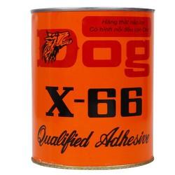 KEO CON CHÓ 600ml DÁN GIÀY GỖ NHỰA VẢI CAO SU DOG X- 66