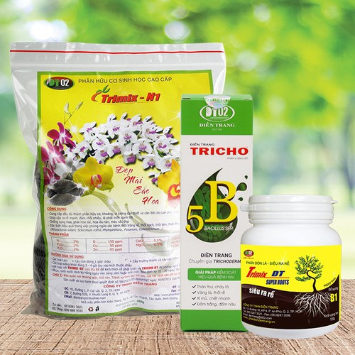 Phân bón dưỡng, kích ra rễ, phòng ngừa nấm bệnh chuyên dùng cho lan