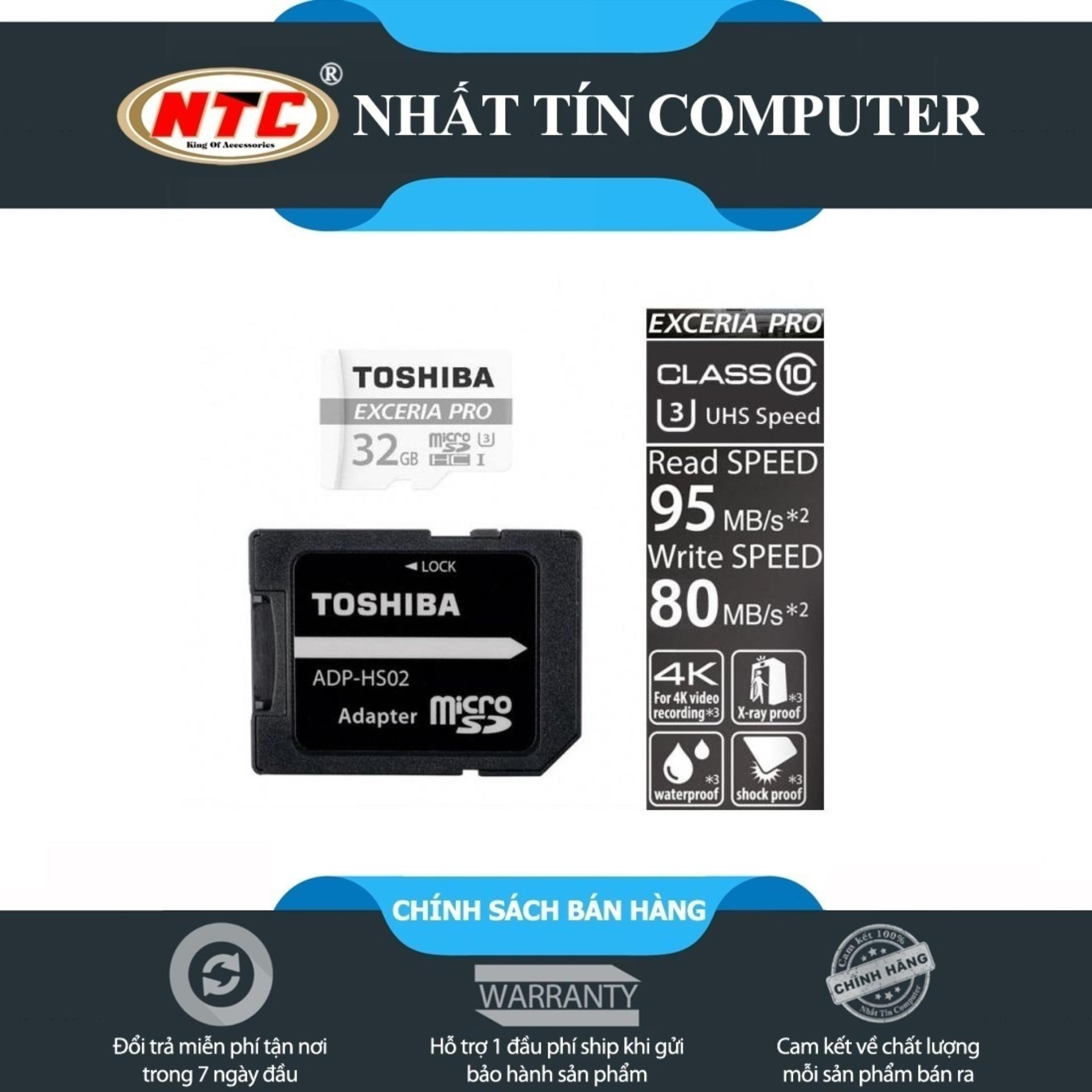 Thẻ nhớ MicroSDXC Toshiba Exceria Pro M401 64GB UHS-I U3 4K 95MB.s [Trắng] - Toshiba Exxceria 5