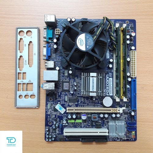 Combo Main Foxconn G31, E5300, ram 2GB DDR2, Quạt 775 - Combo lắp máy văn phòng Foxcon G31, E5300, ram 2G