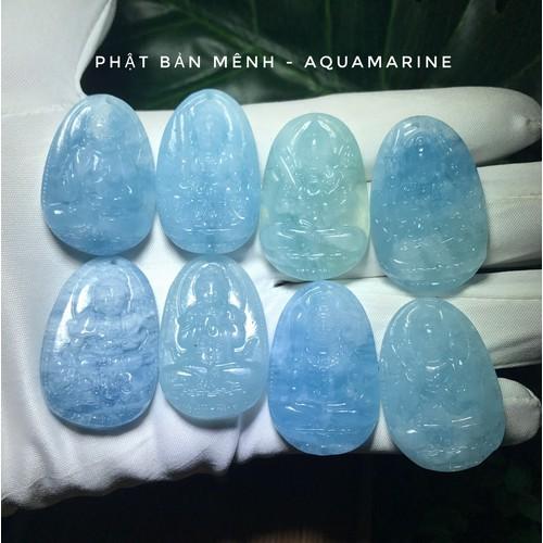 Phật bản mệnh đá tụ nhiên Aquamarine cho mệnh Thủy và Mộc