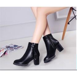 Giày boot nữ cổ thấp phong cách Hàn Quốc B131