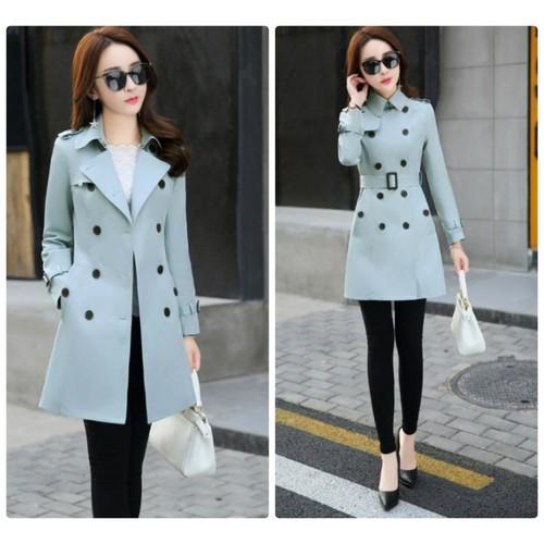 Áo khoác cổ vest kèm nịt - HK