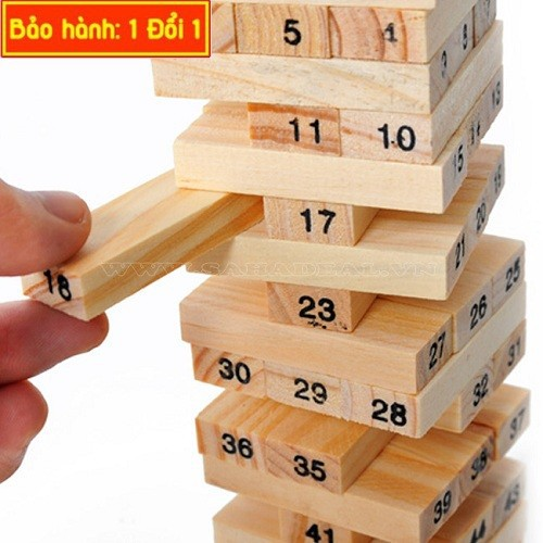 Trò chơi rút gỗ loại lớn 29 cm xả stress cùng bạn bè