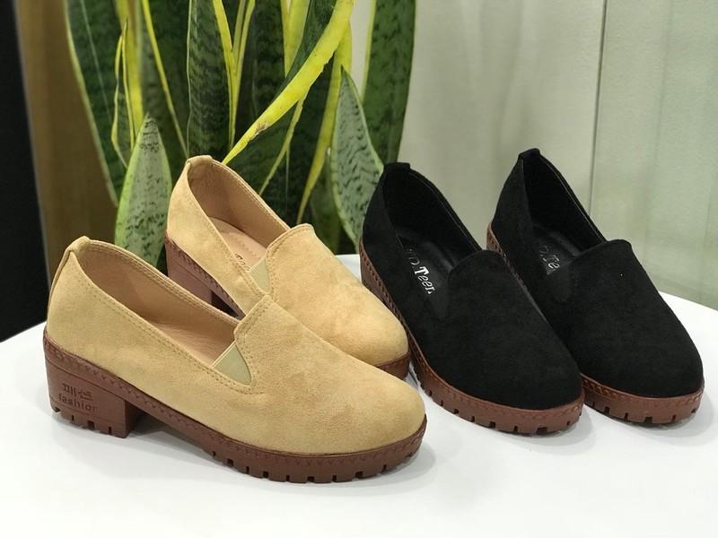 Giày oxford trơn da lộn VN 02 |giày oxford nữ 2