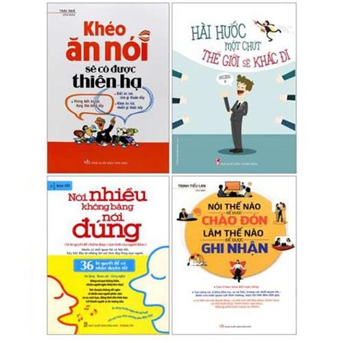 Combo 4 Cuốn Sách Kỹ Năng Hot - Nói Nhiều Không Bằng Nói Đúng, Khéo Ăn Nói, Hài Hước Một Chút, Nói Thế Nào Để Được Chào Đón Làm Thế Nào Để Được Ghi Nhận - 6988806 , 13730280 , 15_13730280 , 266000 , Combo-4-Cuon-Sach-Ky-Nang-Hot-Noi-Nhieu-Khong-Bang-Noi-Dung-Kheo-An-Noi-Hai-Huoc-Mot-Chut-Noi-The-Nao-De-Duoc-Chao-Don-Lam-The-Nao-De-Duoc-Ghi-Nhan-15_13730280 , sendo.vn , Combo 4 Cuốn Sách Kỹ Năng Hot - N