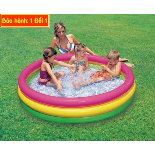 Hồ bơi là bể bơi to dành cho nhiều bé có thể bơi cùng 114x25cm
