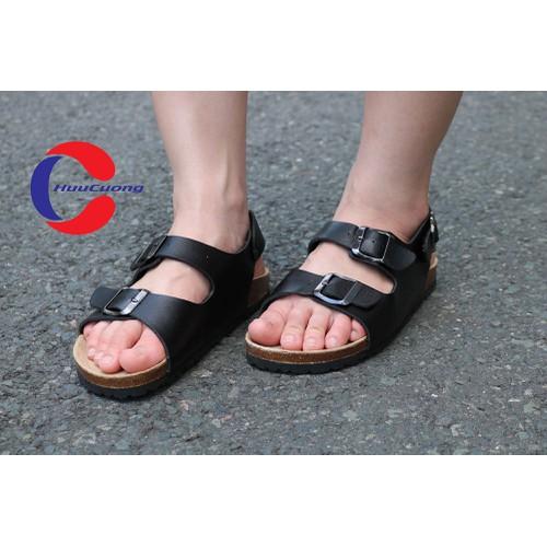 Giày sandal 2 khóa đế trấu