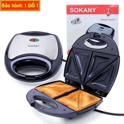 Máy nướng bánh Sokany với khuôn men chống dính, nướng bán rất nhanh