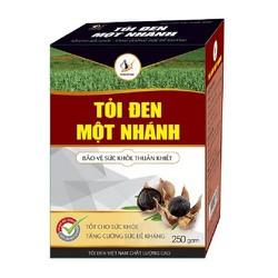 Tỏi đen 1 nhánh, tỏi đen cô đơn Việt Nam hộp 250g