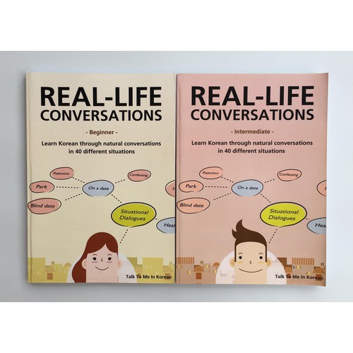 Sách luyện nghe Tiếng Hàn - Real Life Conversation Beginner + Intermediate