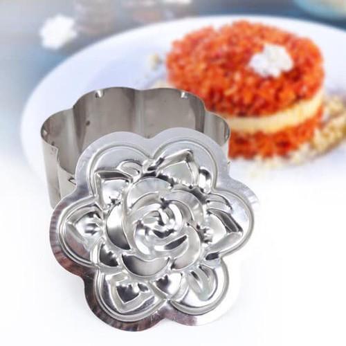 Khuôn xôi inox hoa hồng tiện dụng loại nhỏ  13cm
