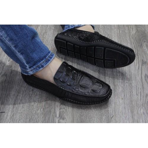 Giày Lười Nam Vân Cá Sấu