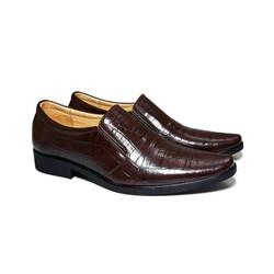 Giày Tây Nam Da Bò Thật Vân Cá Sấu Happyshoes  - HS22