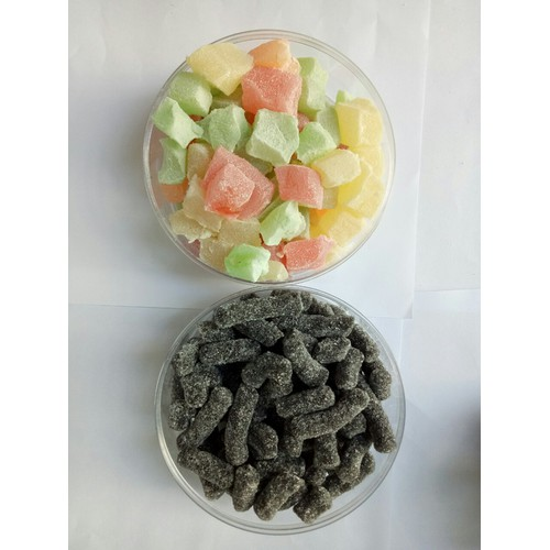 Combo Hộp 250g kẹo dẻo và hộp 250g kẹo dâu tằm Đà LẠt