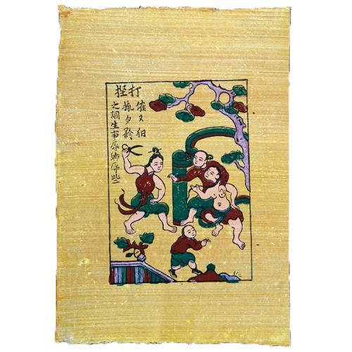 Tranh Đông Hồ chính gốc Bắc Ninh mang đầy ý nghĩa- Tranh Đánh ghen 37-52cm