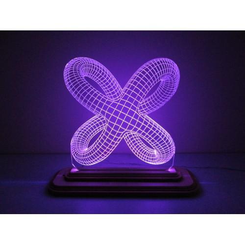 Đèn Led 3D Mô Hình Vòng Xoắn Ver 4
