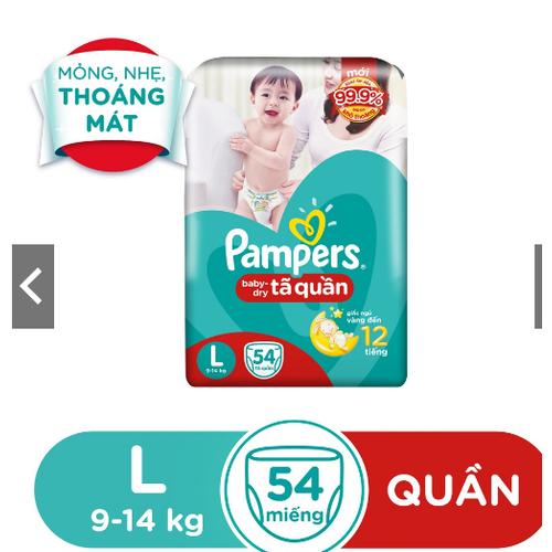 Tã Quần Pampers Baby Đủ Size M60. L54.XL48