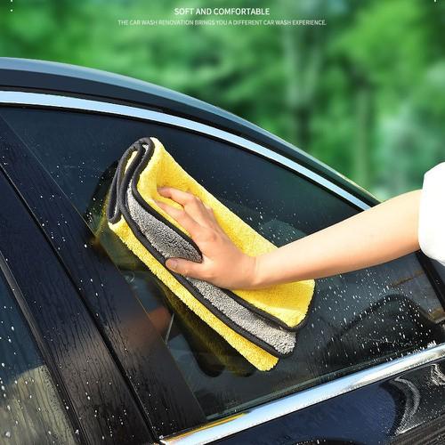 Khăn lau xe ô tô microfiber loại dày mịn cao cấp - khăn lau xe hơi 30x30cm