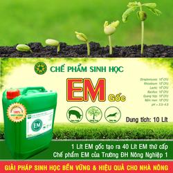 Chế phẩm sinh học EM gốc - Men vi sinh gốc Đại học NN 1 Hà Nội