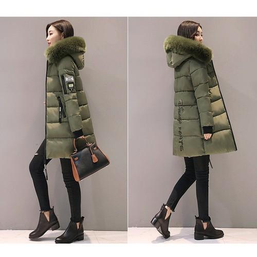 Áo khoác nữ dáng dài đại hàn, cổ lông, hàng loại 1