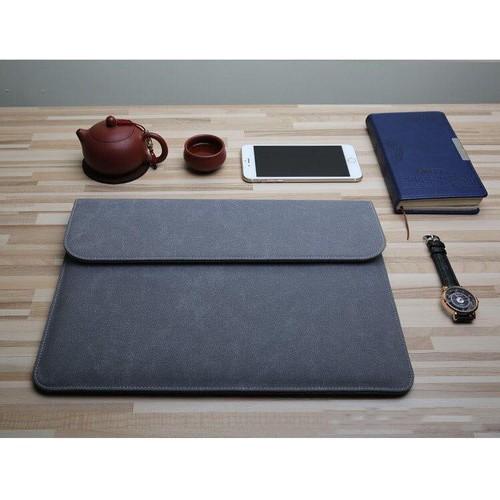 Bao da, túi da chống sốc cho macbook, laptop, surface kèm ví đựng phụ kiện