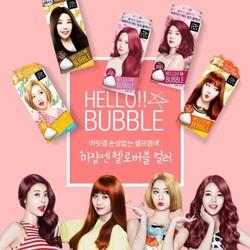 BLACKPINK Bọt nhuộm tóc Mise en Scene Hello Bubble Color Hàn Quốc