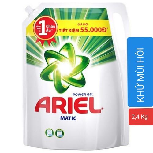 NƯỚC GIẶT ARIEL ĐẬM ĐẶC TÚI 2.4KG