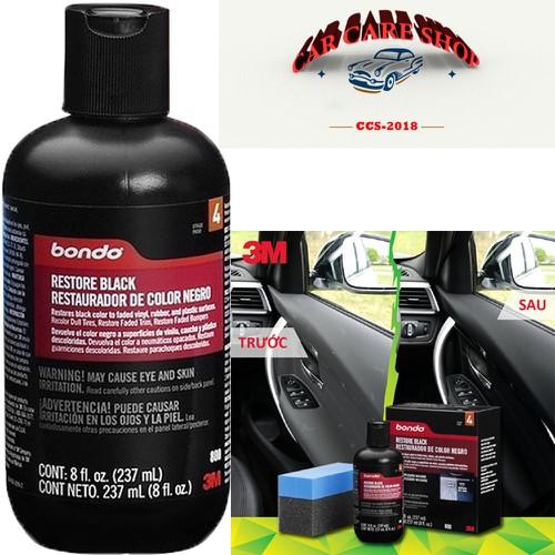 Chai phục hồi nhựa đen cho nhựa sần 3M™ Bondo Restore Black 237ml - 7026673 , 13773858 , 15_13773858 , 369000 , Chai-phuc-hoi-nhua-den-cho-nhua-san-3M-Bondo-Restore-Black-237ml-15_13773858 , sendo.vn , Chai phục hồi nhựa đen cho nhựa sần 3M™ Bondo Restore Black 237ml