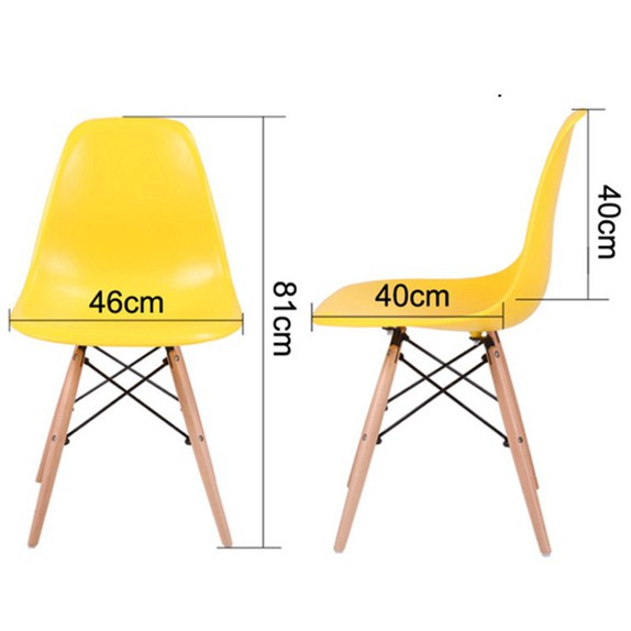 Ghế ăn, ghế cafe Eames chân gỗ - Nội thất XCom 2