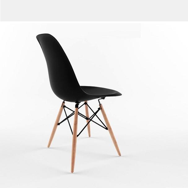 Ghế ăn, ghế cafe Eames chân gỗ - Nội thất XCom 3