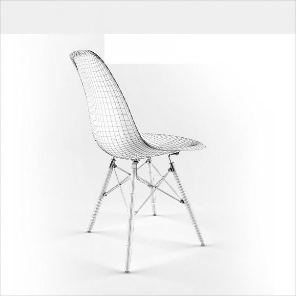 Ghế ăn, ghế cafe Eames chân gỗ - Nội thất XCom 4