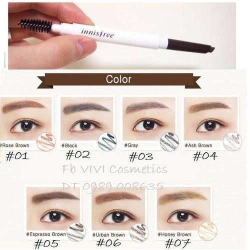 Chì kẻ mày Innisfree Auto Eyebrow pencil - 4606403 , 13762406 , 15_13762406 , 60000 , Chi-ke-may-Innisfree-Auto-Eyebrow-pencil-15_13762406 , sendo.vn , Chì kẻ mày Innisfree Auto Eyebrow pencil