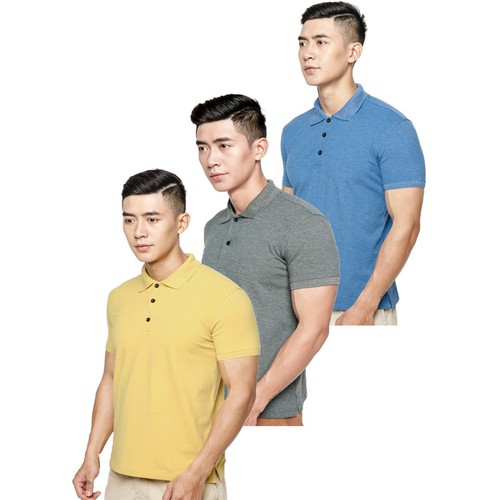 Combo 3 áo thun nam cao cấp-SK68- Bích, Rêu, Vàng