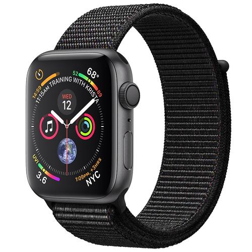 [Áp dụng tại hn và hcm] apple watch series 4 gps 44mm viền nhôm xám dây nylon đen mu6e2vna