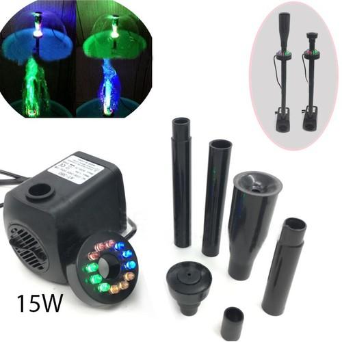 Máy bơm chìm 15W kèm đèn led nhiều màu có đầu phun hình nấm, không chổi than, cho đài phun nước mini, bể cảnh, tiểu cảnh AT380S - 10938802 , 13762873 , 15_13762873 , 429000 , May-bom-chim-15W-kem-den-led-nhieu-mau-co-dau-phun-hinh-nam-khong-choi-than-cho-dai-phun-nuoc-mini-be-canh-tieu-canh-AT380S-15_13762873 , sendo.vn , Máy bơm chìm 15W kèm đèn led nhiều màu có đầu phun hình